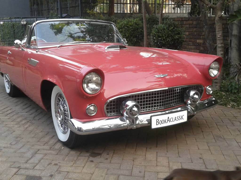 1956 Ford Thunderbird Convertible for hire in Gauteng Hire Pretoria